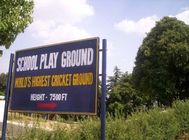 Cricket ground at height
