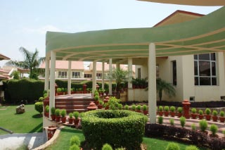 A resort called Shiva Oasis in Behror, midway to Jaipur