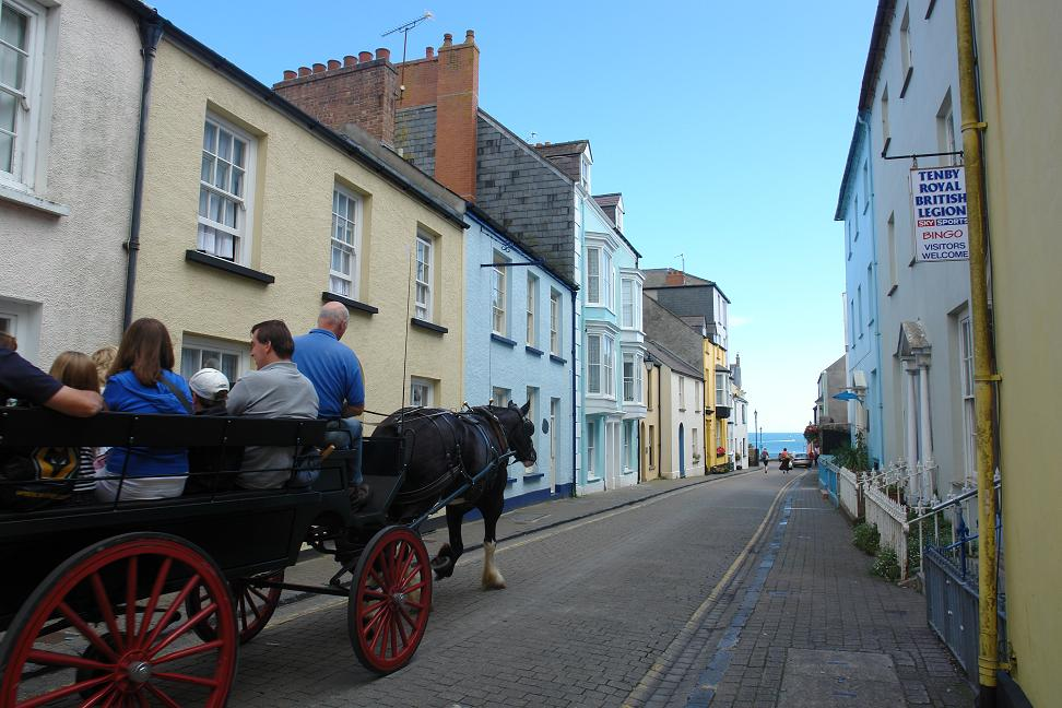 Tenby Street in front of our hotel