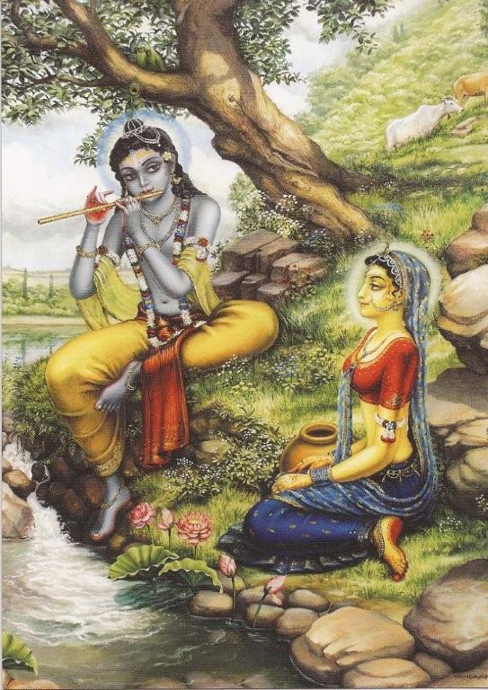 Krishna and Radha Painting