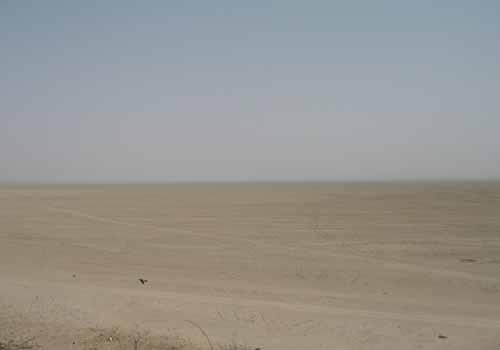 The dry Sambhar Lake
