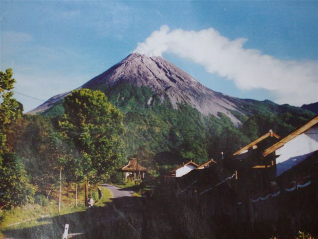 Smoking Mount Merapi