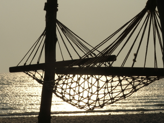 Hammock on a beach at Kashid