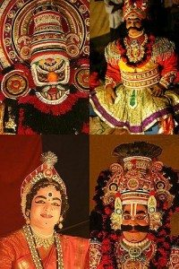 Yakshagana faces; Source: flickr