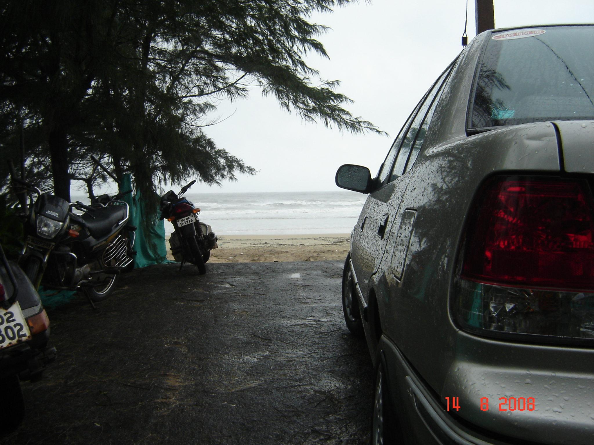 At Leela beach
