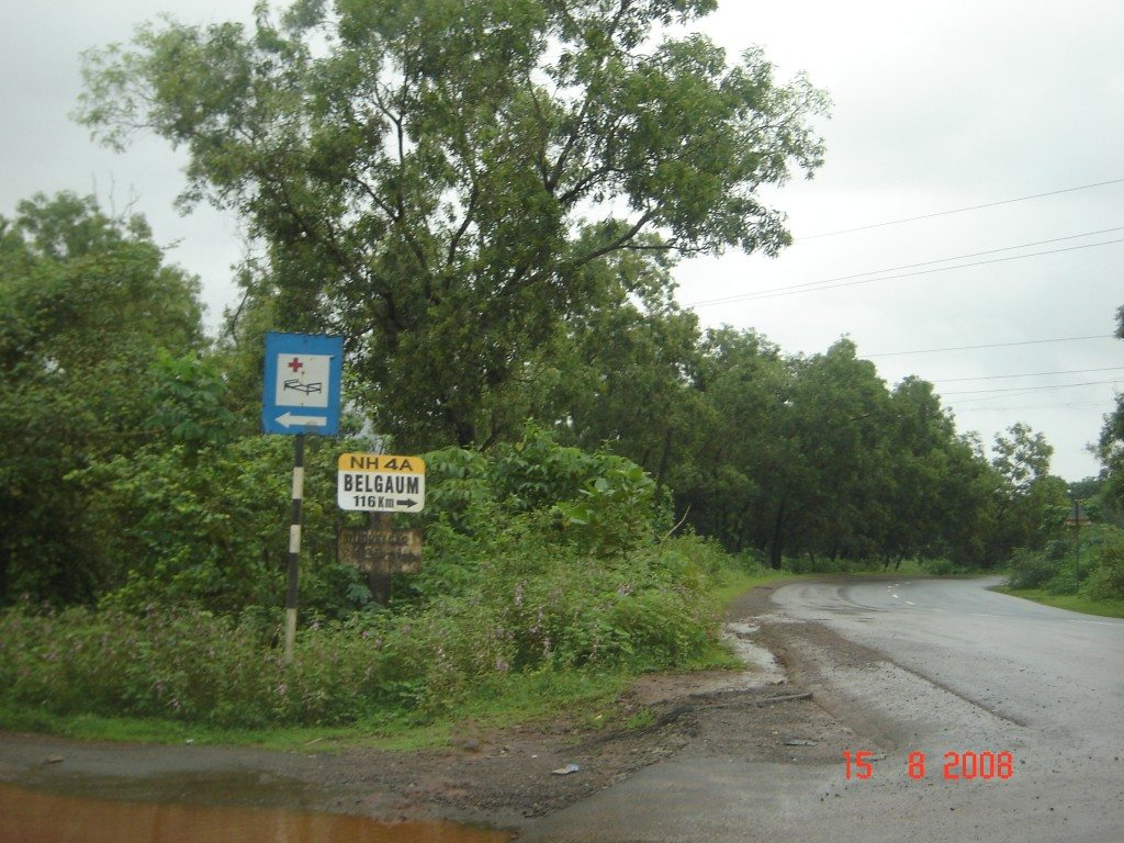 Road towards Belgaum