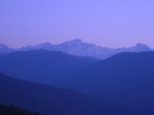 Garhwal range in the early morning