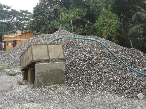Huge pile of sea shells