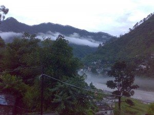 This 'out of this world' view is of Karnaprayag early in the morning
