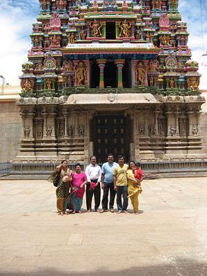 Family Grouping at North gate of Madurai Temple