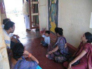 sitting in Ramar Padam temple