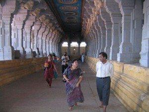 Walking thru more than 1200 pillars in Rameshwaram temple