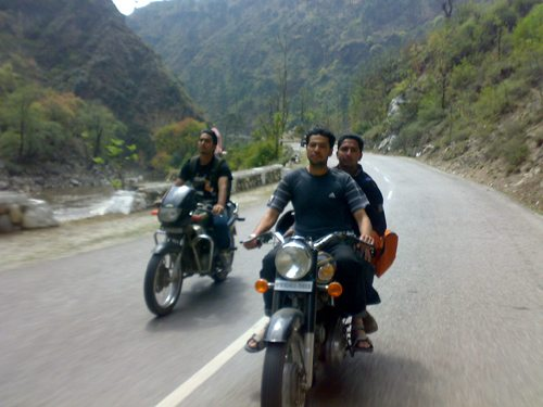 Amritpal and Arun on Bullet, Randy on CBZ