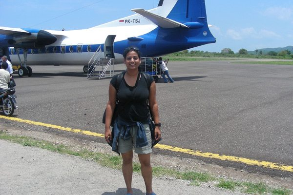 Arrived at Labaun Bajo Airport in West Flores