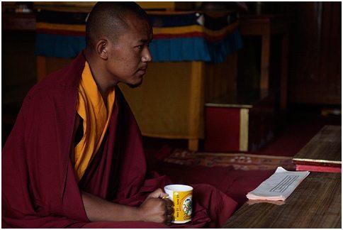 Tabo monk taking a break. Source: NevilZaveri@flickr