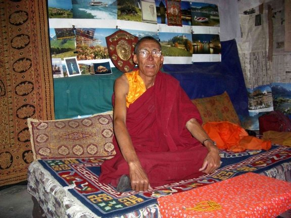 Abbot of Lalung Monastery who offered me tea. Source: wikimedia
