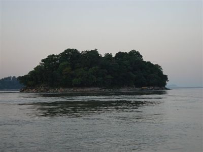 Island on Brahmaputra.