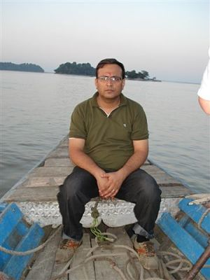 On the way to Shiva Temple - Brahmaputra River