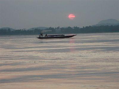 Brahmputra River - Sun Set