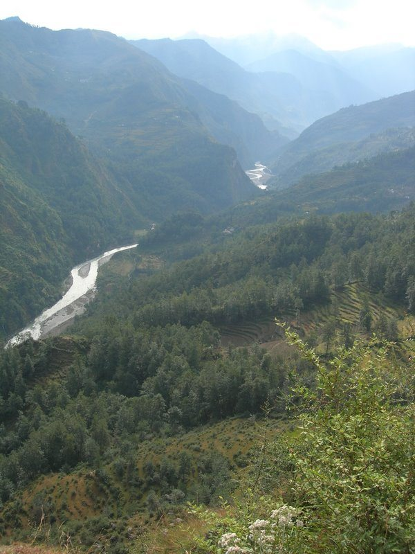 View of Gauri Ganga from Munsiyari