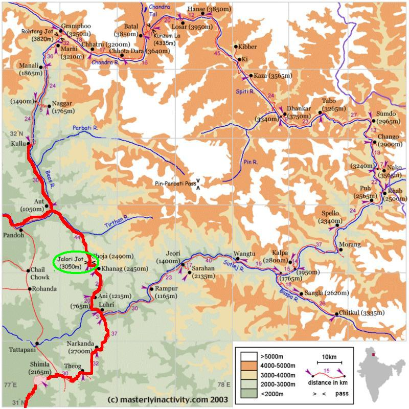 The route taken in HP
