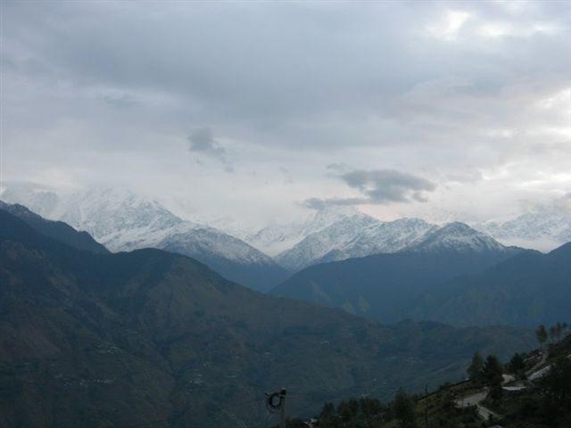 Panchachuli peaks under cloud