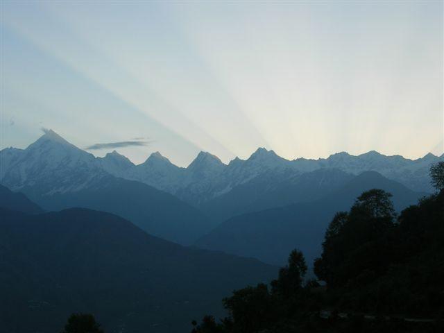 Panchachuli during sunrise