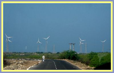 windmills on somnath to dwarka road
