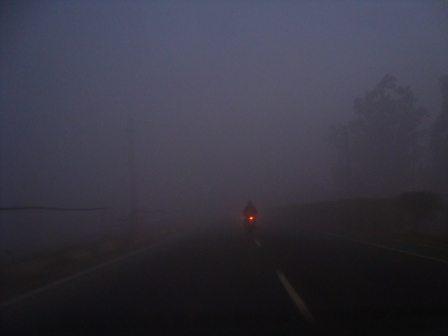 Dense Fog near Ambala