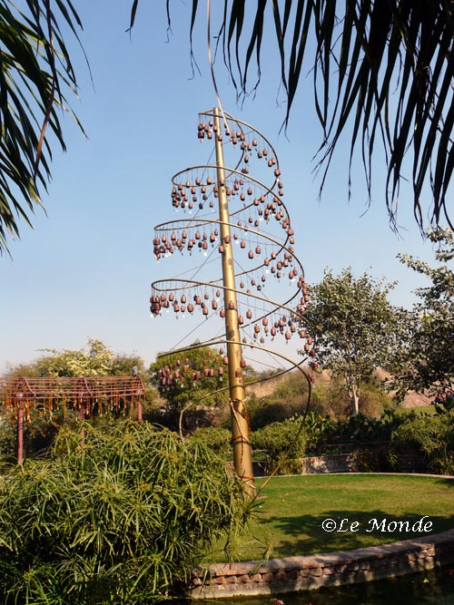 The tall wind chime.