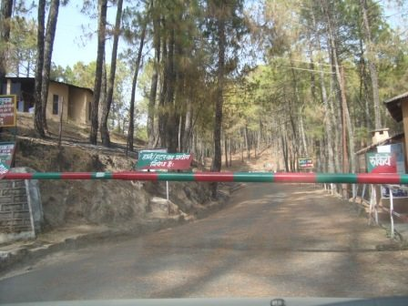 Entry to Binsar Forest Reserve