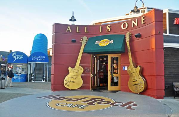 Hardrock Cafe, Pier 39, San Francisco, California, US