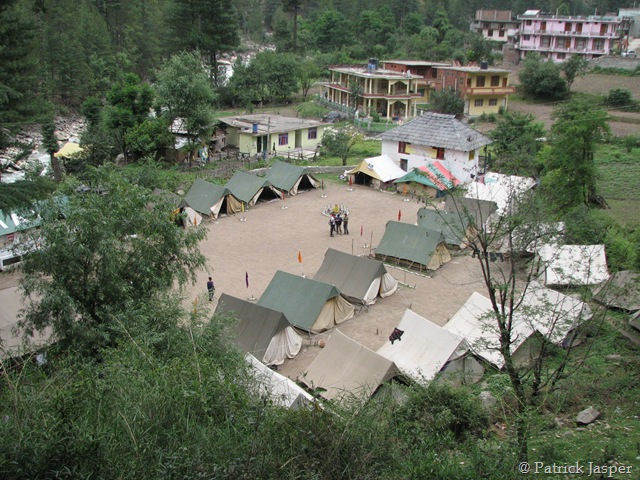 View of the Base Camp - Tents and all