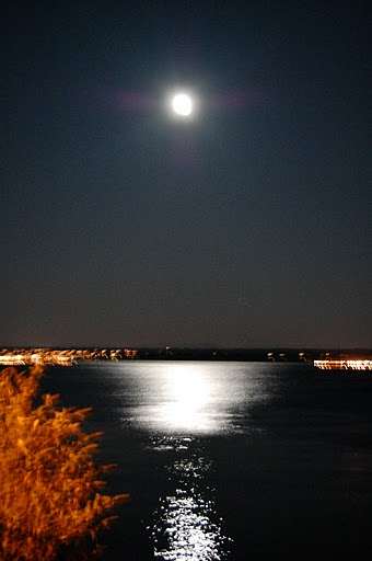 21 Amazing view of the moon at midnight on our way back while waiting for the ferry