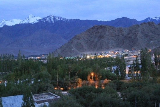 Leh @ Night (View from our Guest House's window)