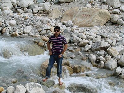 Gomukh, Ganges starting point, Gangotri ... - YouTube