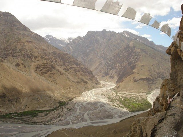 The confluence of Spiti and Pin river