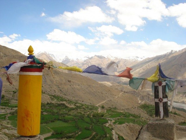 From atop Dhankar Monastery