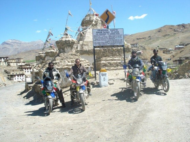 Kibber, our destination of the ride