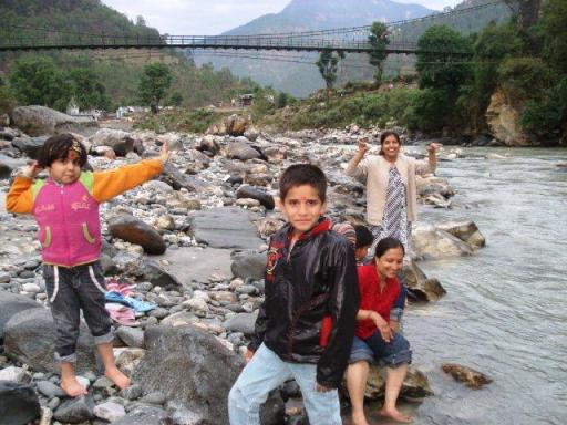 Mastiful moments near river Ganga - Nathala (uttarkashi)