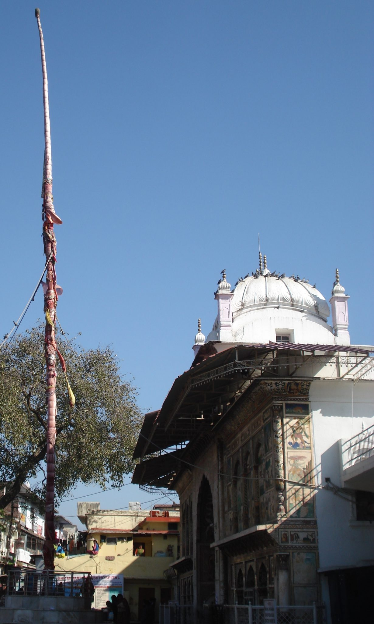 Jhanda outside Guru Ramrai Darbar