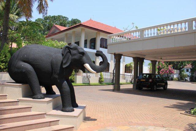 Elephant... Welcoming us at Taj Malabar