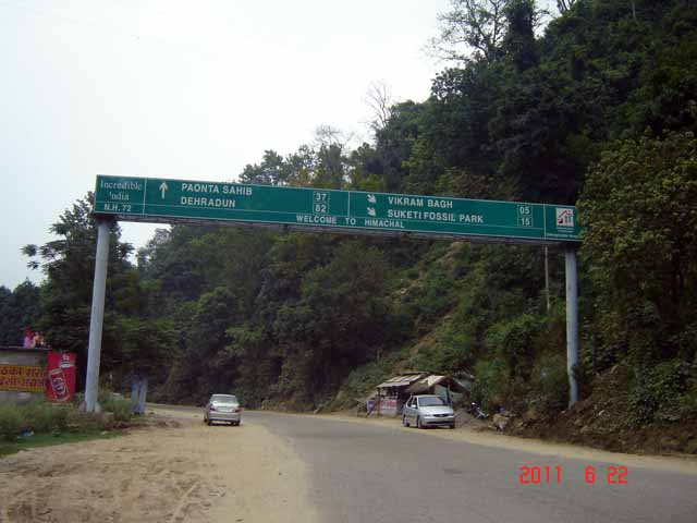 Road from Nahan to Paonta Sahib