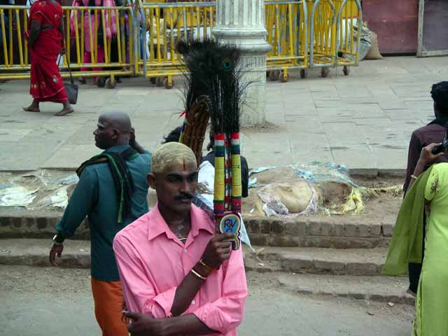 A Devotee at the Palani Temple