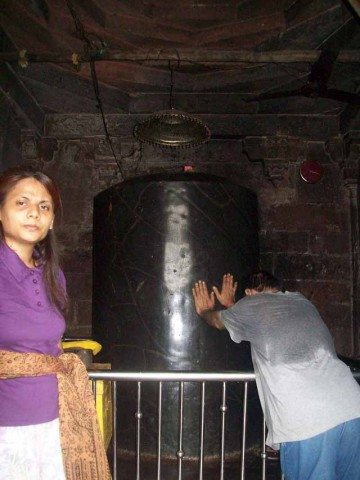 Gori Somnath Shivaling. Its atleast 6 feet long and 3 feet thick.