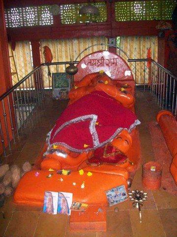 large sleeping hanuman near Gori Somnath Temple