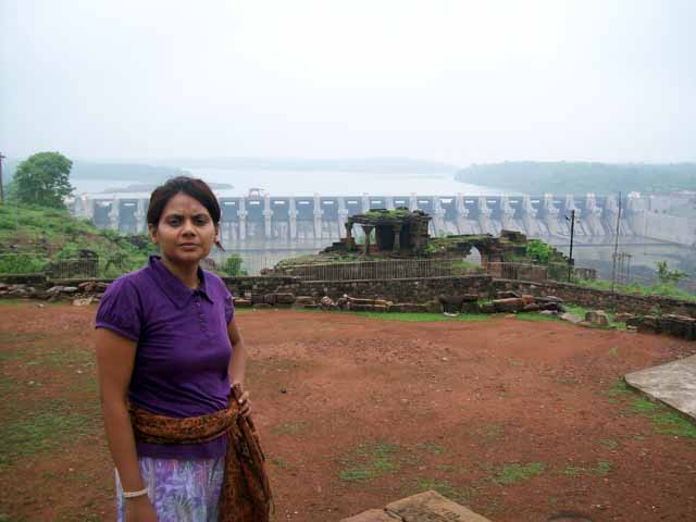 View of Omkareshwar Dam from Siddhnath Temple.