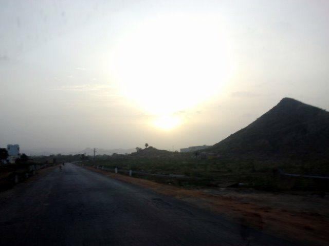 Catching the sunrise outside Udaipur.