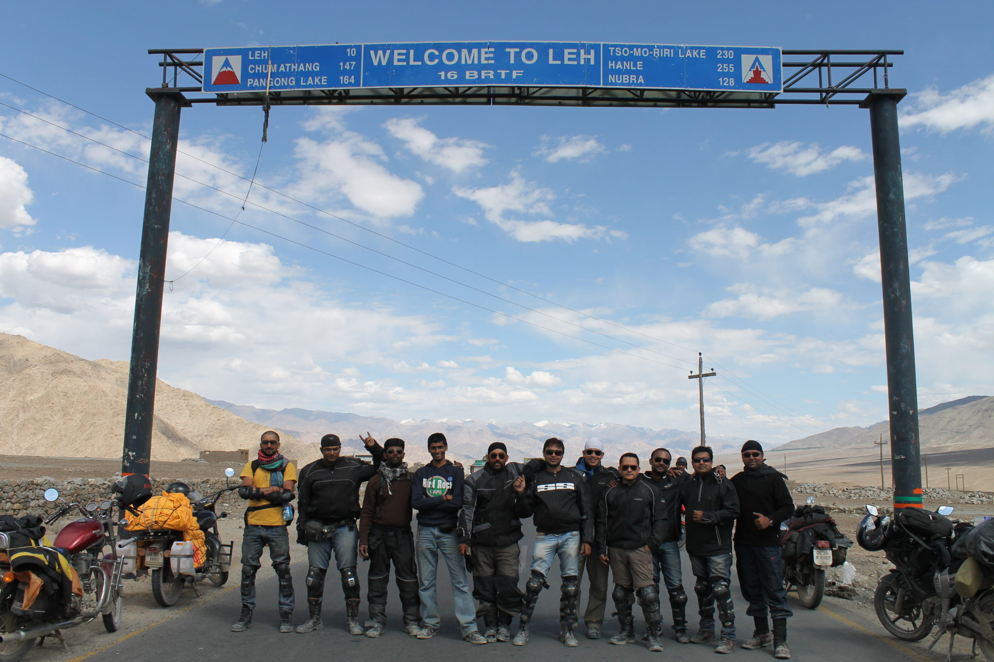 the entrance to leh
