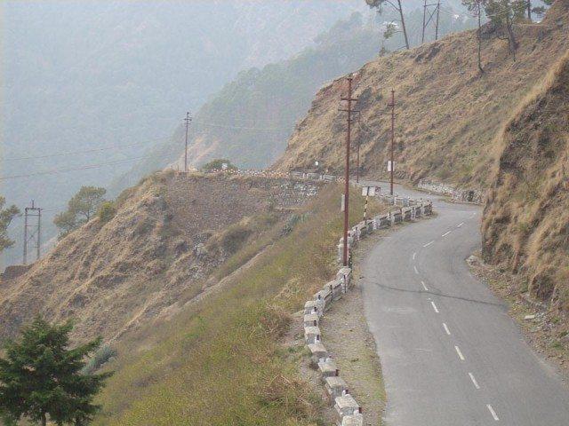 Driving Towards Nainital - Amid Hills